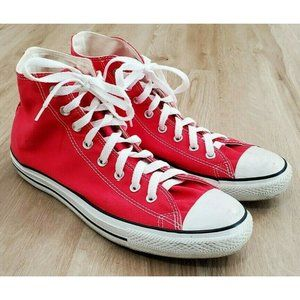 Converse Mens Chuck Taylor All Star Red Sneakers